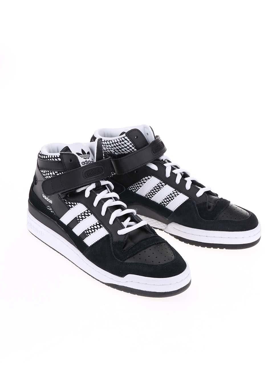 Černé pánské kotníkové tenisky adidas Originals Forum Mid RS ... b3139d7123