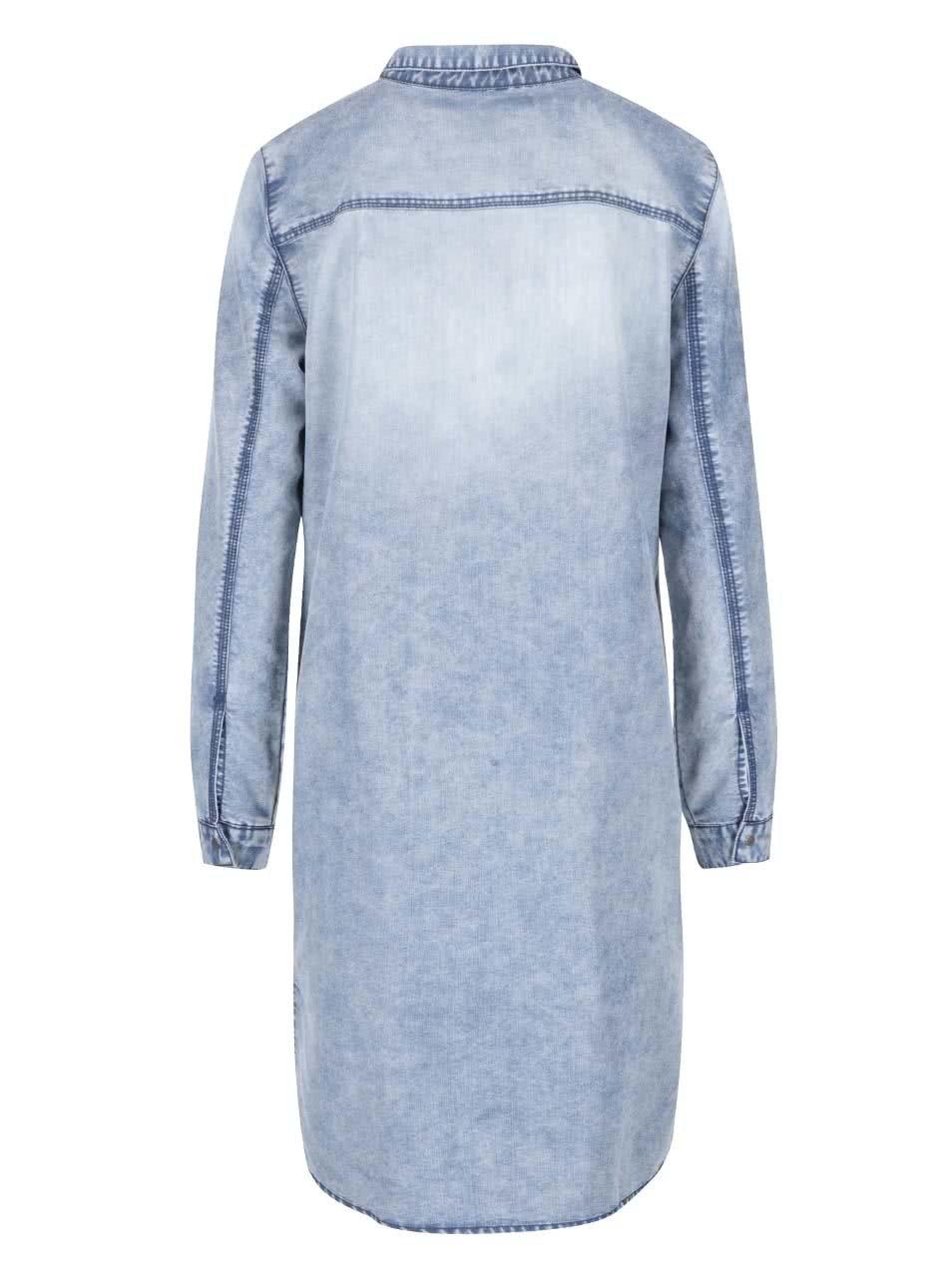 058692b514d8 Modrá denimová dlhá košeľa Noisy May Patric ...