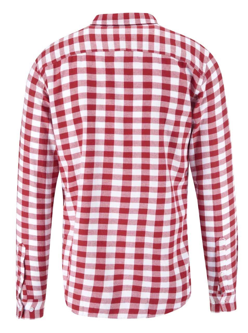 d72de02e4d1d Bielo-červená kockovaná košeľa Jack   Jones Orflanel ...