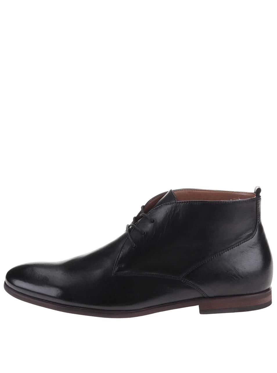c7d79e182 Čierne pánske kožené členkové topánky ALDO Mireama | ZOOT.sk