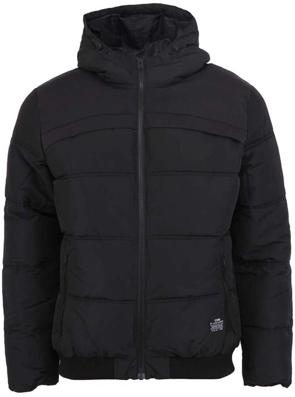 Černá prošívaná zimní bunda Jack & Jones Sammo