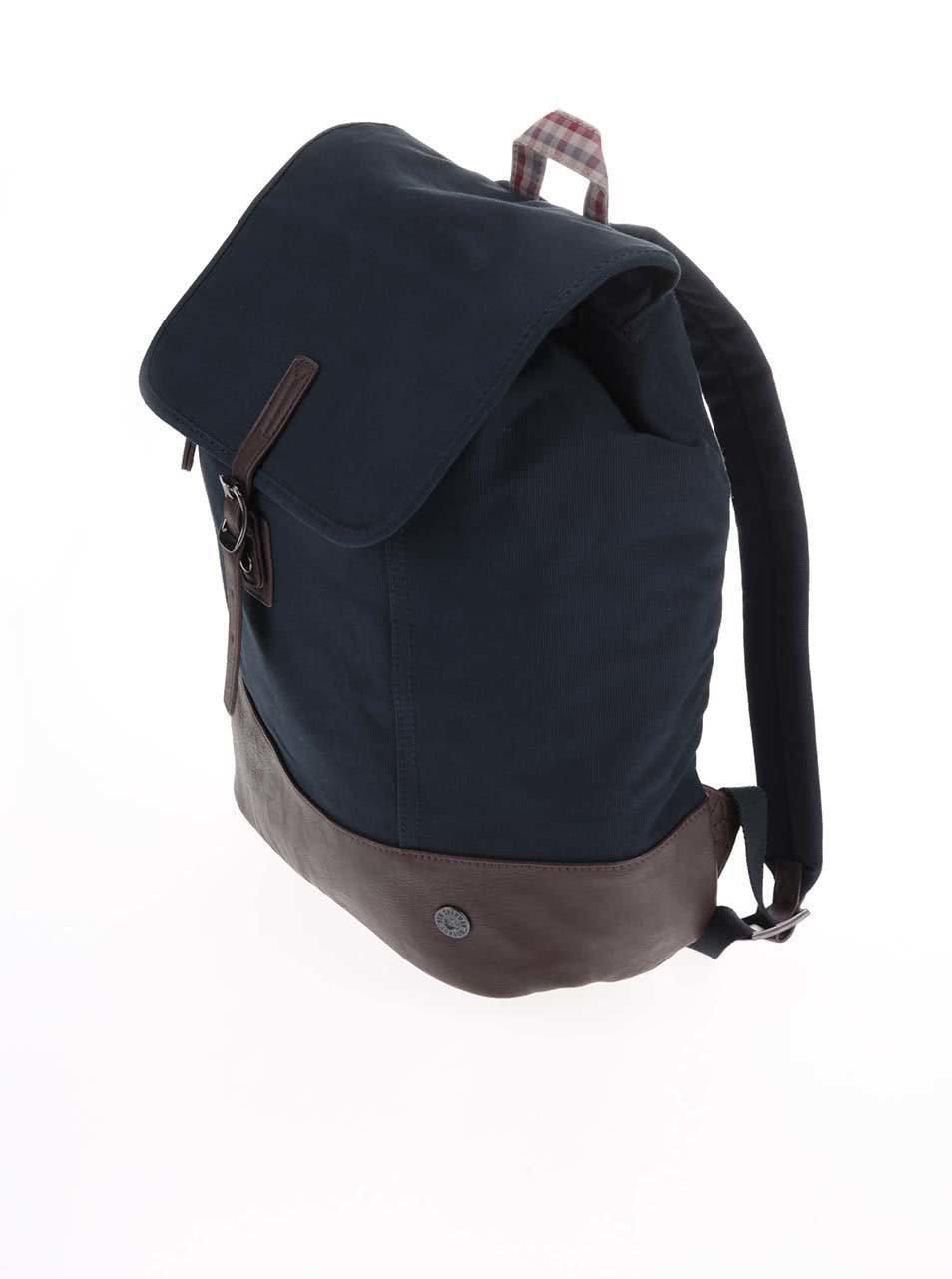 Tmavě modrý retro batoh Ben Sherman ... d3d0d6b1cd