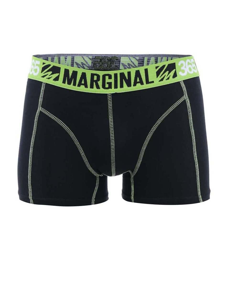 Zeleno-čierne športové boxerky Marginal ... 6f9d916b0e3