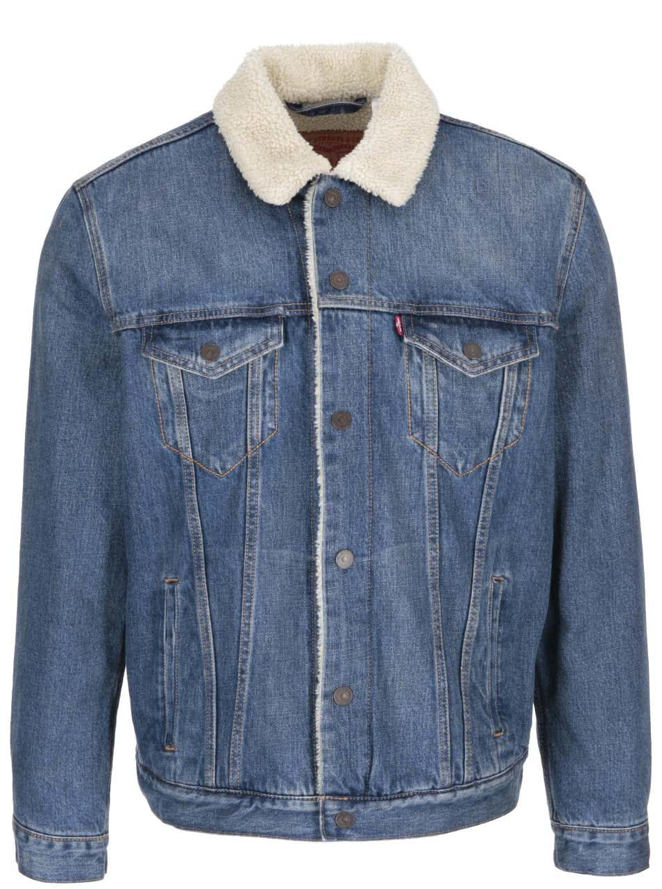 Modrá pánska rifľová bunda Levi s® ... 3fcb97629b2