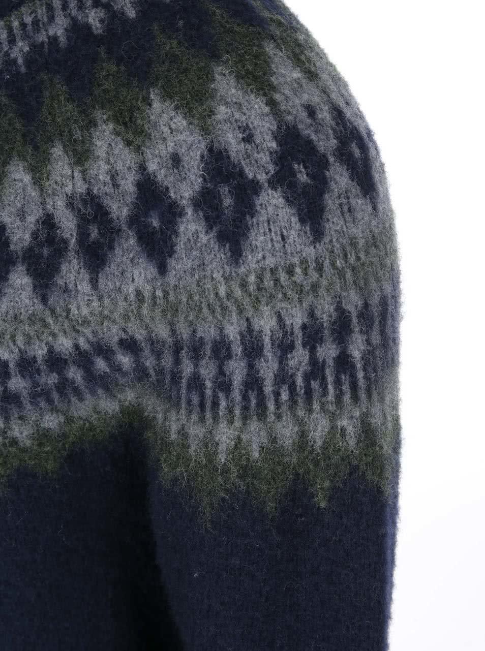 5bfc79408ea Modrý pánský vlněný svetr Levi s® ...