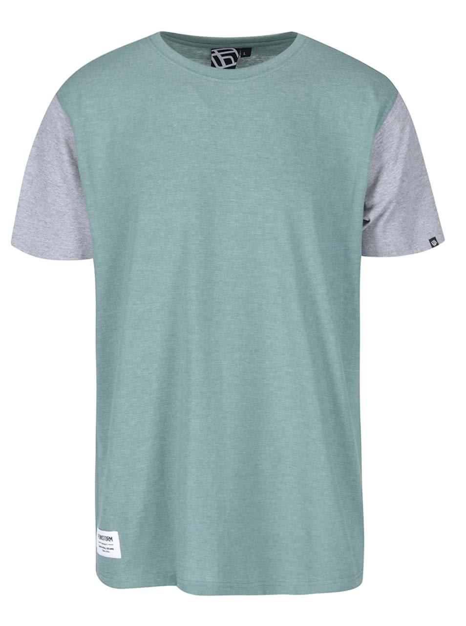 52e7da3d4296 Zelené pánské triko s krátkým rukávem Funstorm Toni ...