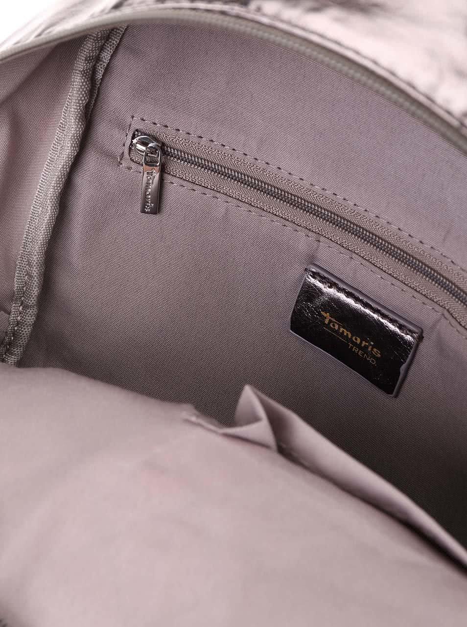 Metalický prešívaný batoh Tamaris Sophie ... 0fb8dd1cfe9
