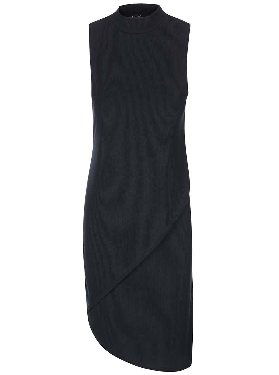 Černé asymetrické šaty bez rukávů SisterS Point Simon ... 0c7d75dd8c