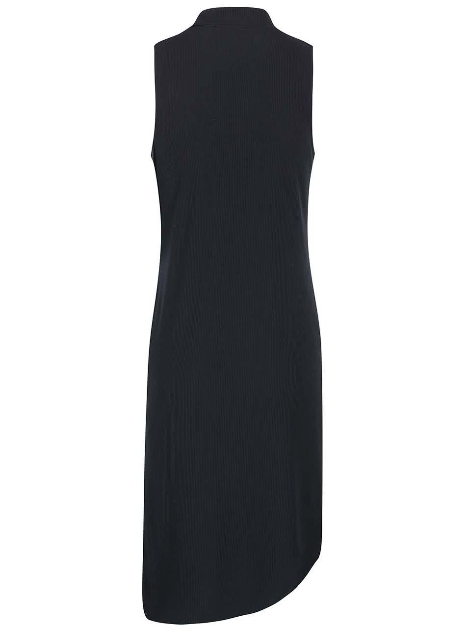 54ef98d0409 Černé asymetrické šaty bez rukávů SisterS Point Simon ...