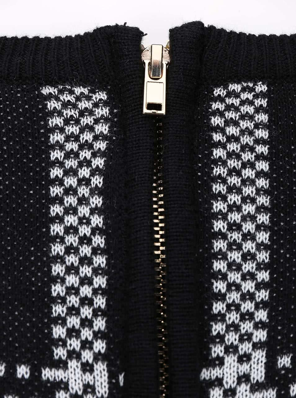 cdddc712c Bielo-čierne pletené šaty s 3/4 rukávmi Dorothy Perkins | ZOOT.sk