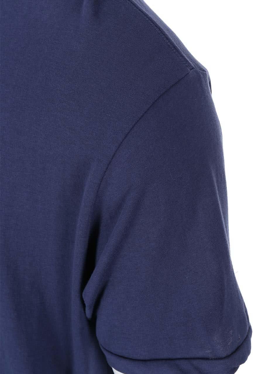 Tmavě modré triko s prodlouženou zadní částí Shine Original ... e72ba2e941