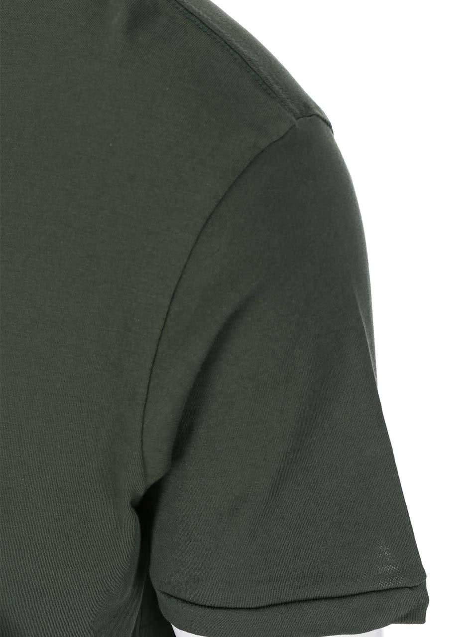 Tmavě zelené triko s prodlouženou zadní částí Shine Original ... 4a78c93f56