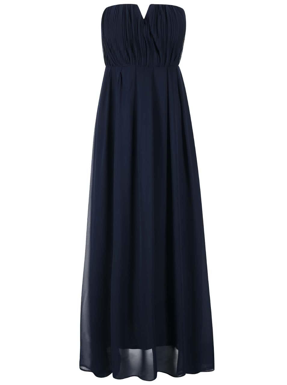 b42f25219bc0 Tmavomodré šifónové šaty AX Paris ...