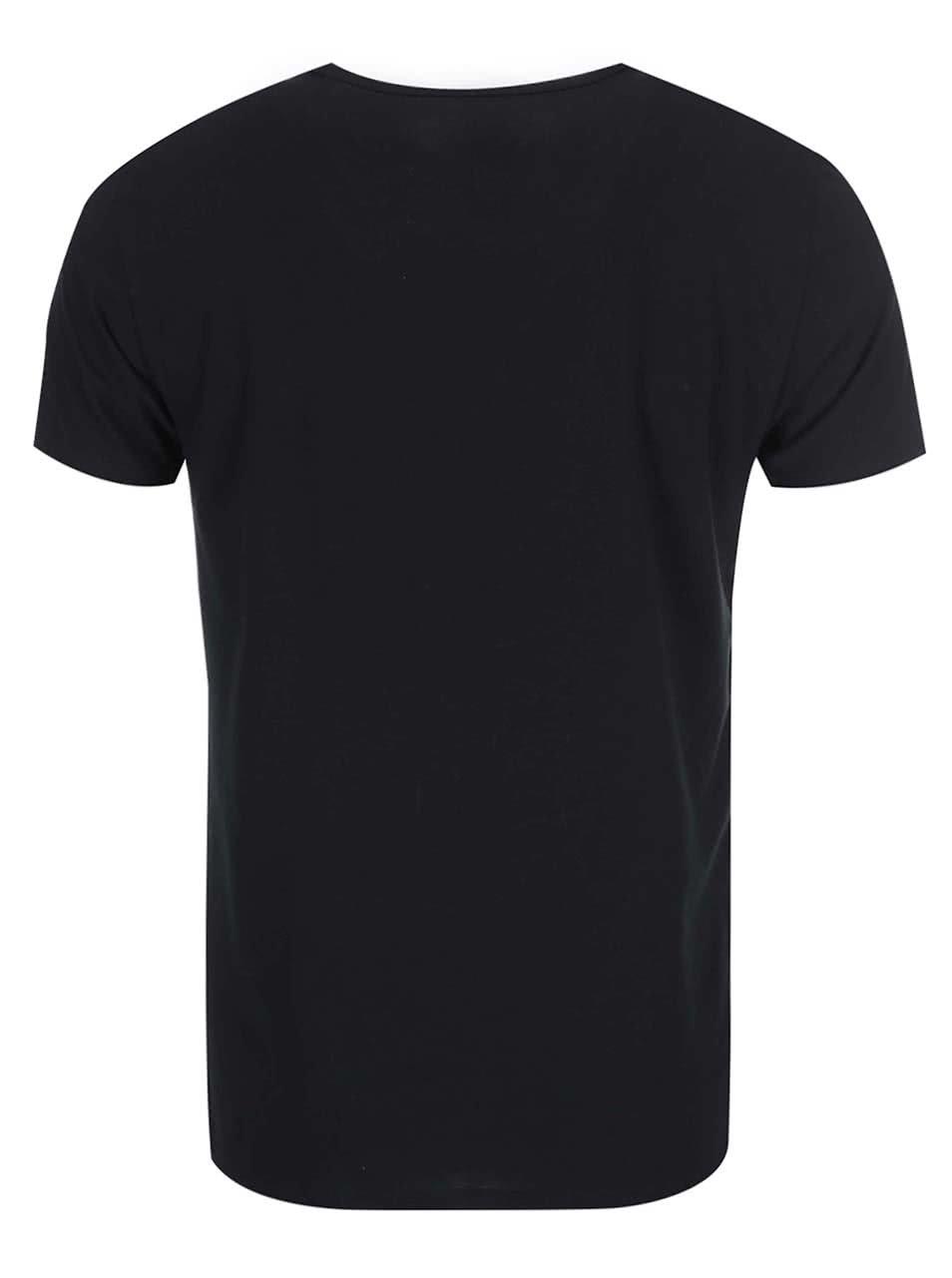 cdad806d48 Kolekcia troch pánskych čiernych tričiek Tommy Hilfiger ...