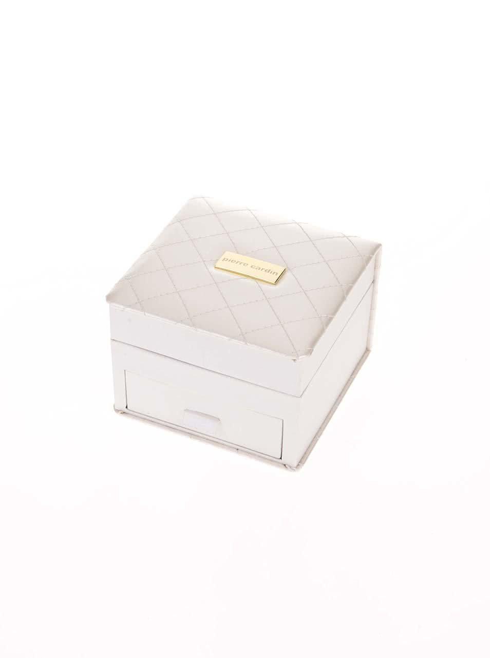 Hodinky se sadou šperků v bílé kazetě Pierre Cardin ... 8810fb6fb0