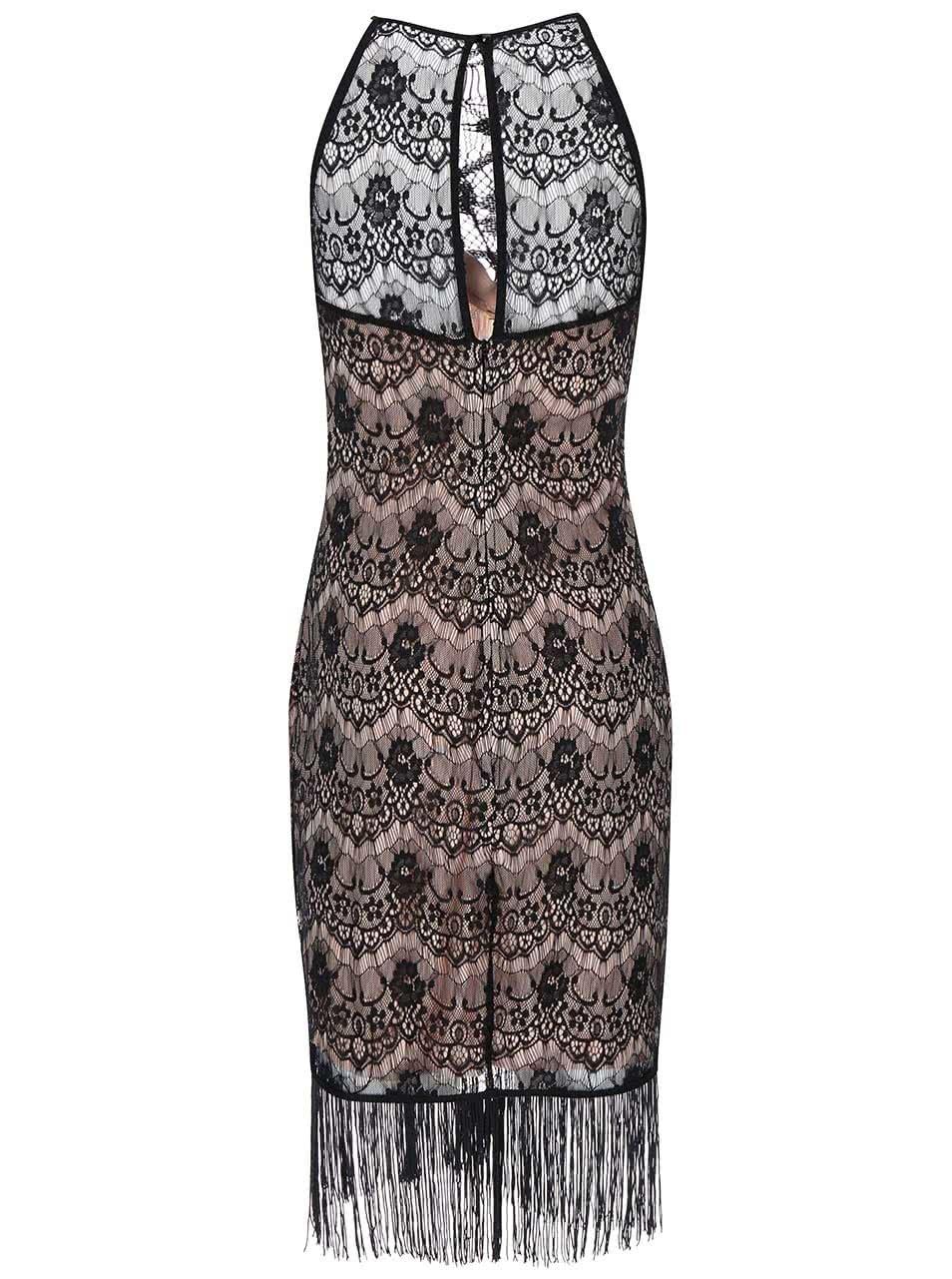 926328763676 Čierno-béžové čipkované šaty Lipstick Boutique Daria ...