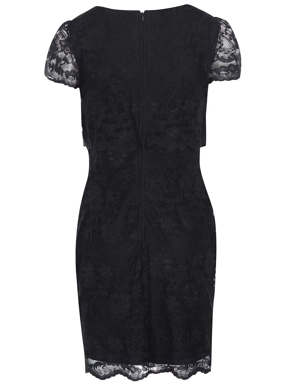 5262d79eea6 Černé šaty s krajkou Lipstick Boutique Lucinda ...