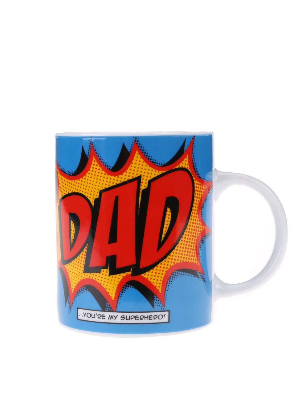 Modrý porcelánový hrnek s potiskem Gift Republic Dad