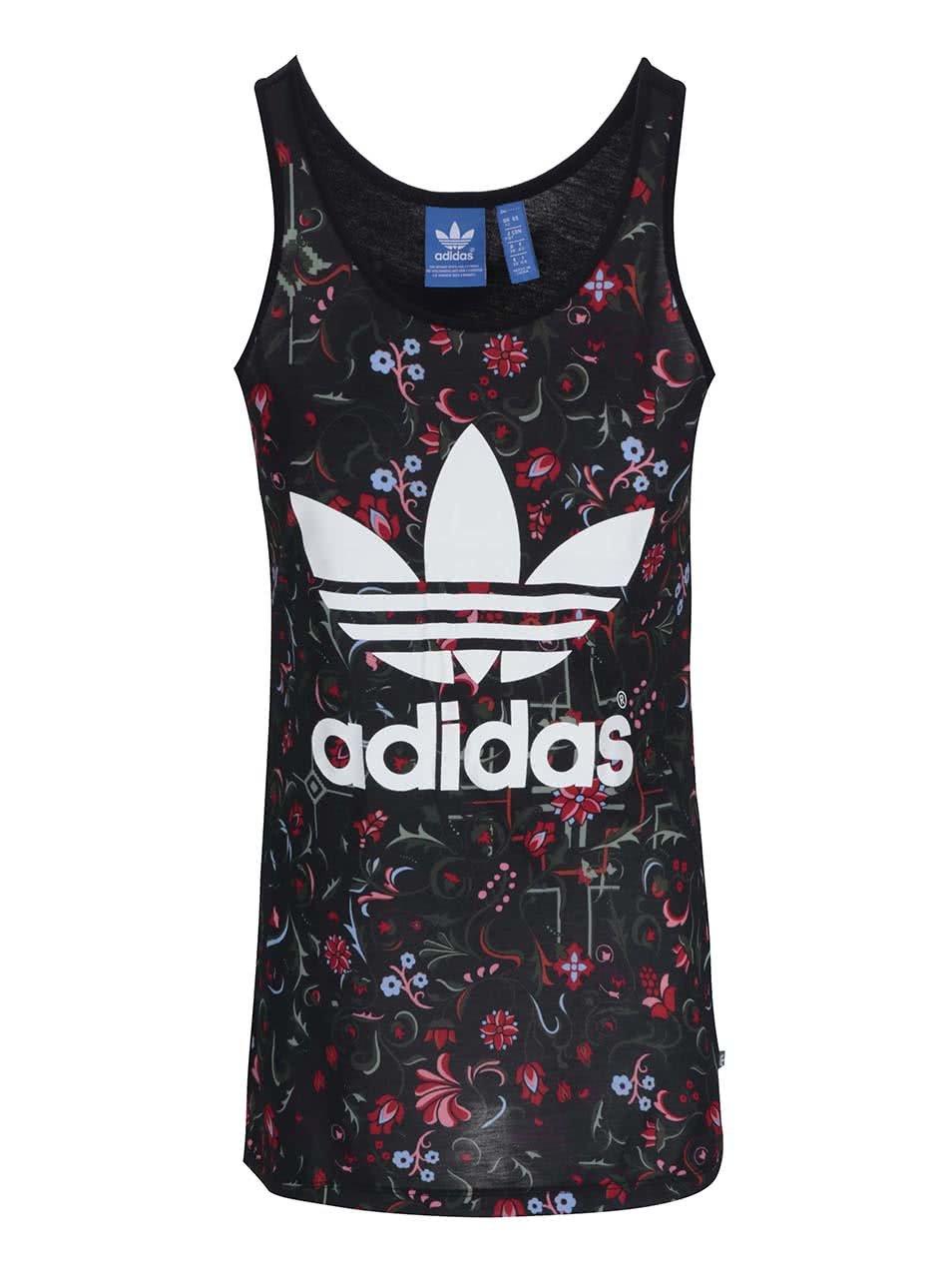 236d474897 Čierne kvetinové tielko adidas Originals ...