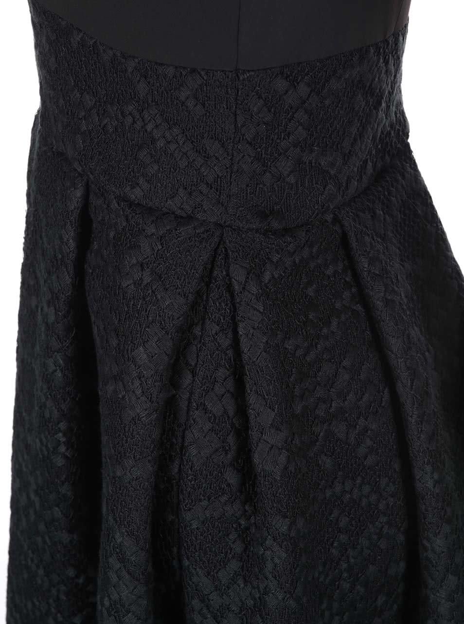 1378540f0d75 Černé šaty s áčkovou sukní Closet ...