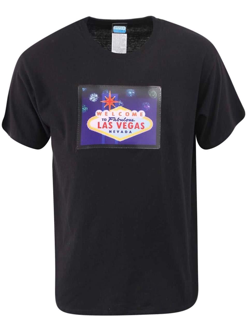 7d7a9a0d53 Čierne pánske tričko CYBwea Las Vegas ...