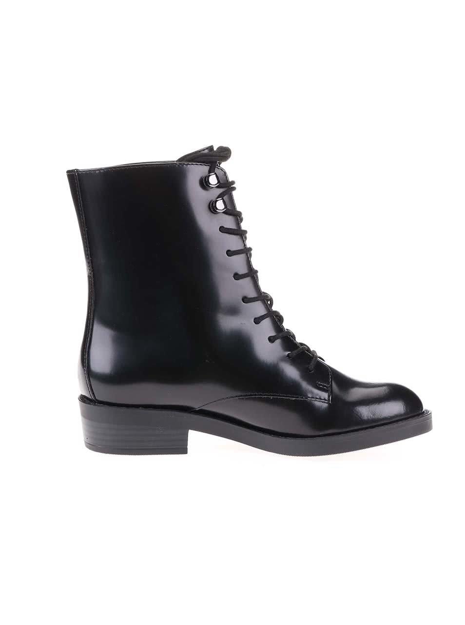 e8da5a59b6 Čierne kožené šnurovacie topánky ALDO Johnsie ...