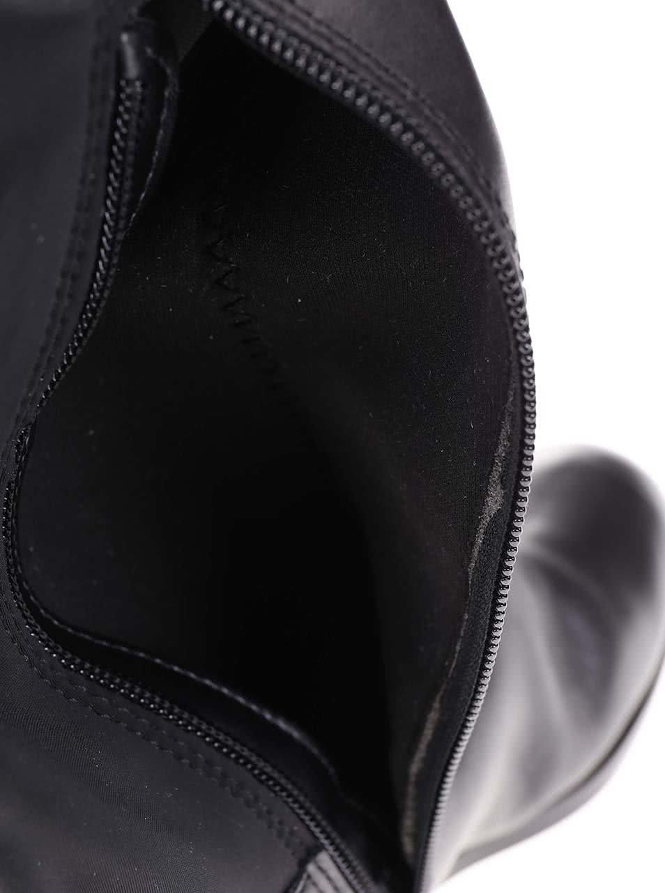ecfbea28d5 Čierne kožené vysoké čižmy ALDO Dyna ...