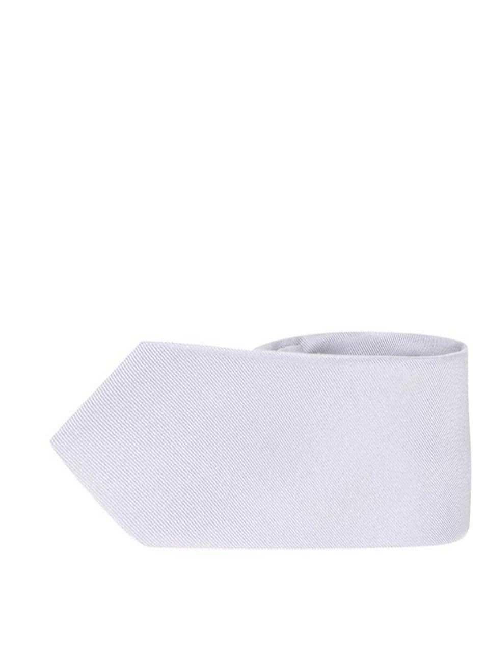 Hedvábná kravata ve stříbrné barvě Selected Homme Plain