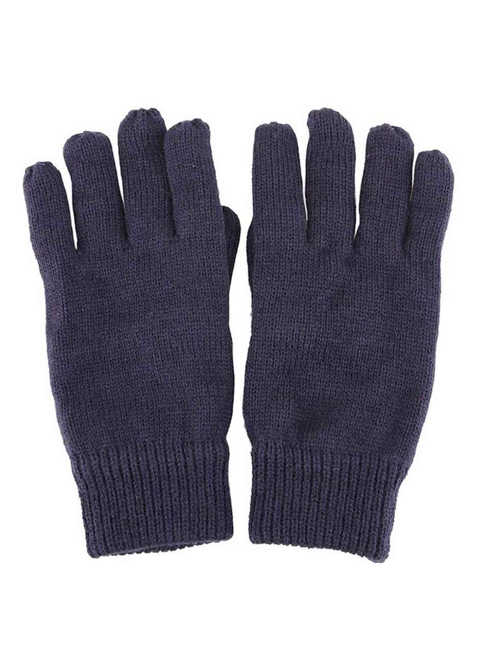 Tmavě modré pletené rukavice Selected Homme Jules ... 79a8aeab63
