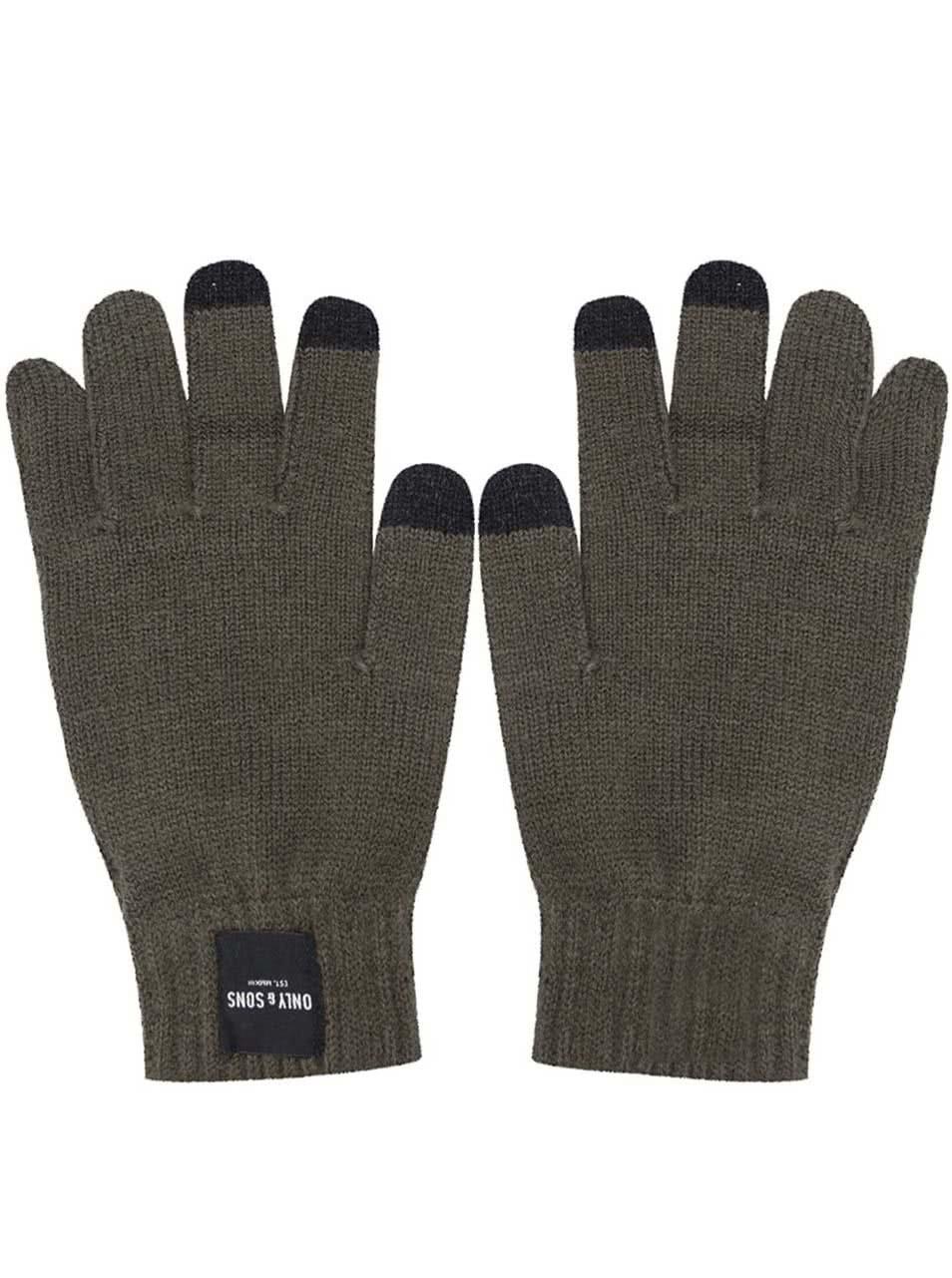 Zelené rukavice na dotykový displej ONLY   SONS Woom ... 51777ddd74