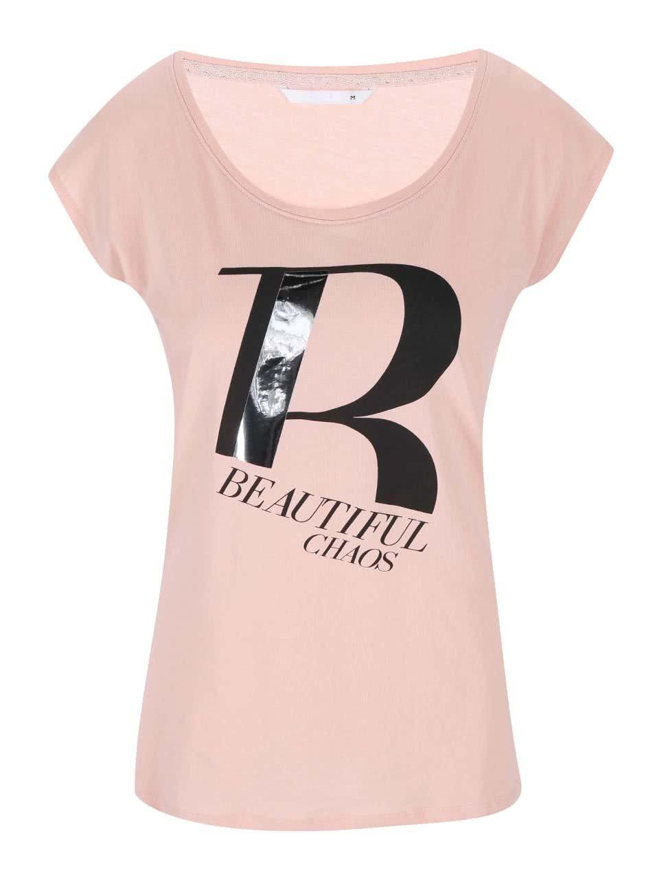 d670d1978889 Ružové tričko s potlačou ONLY Joli ...