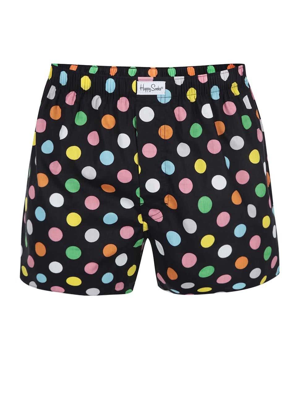 Černé pánské trenýrky s barevnými puntíky Happy Socks Big Dots ... f1f36e9f46