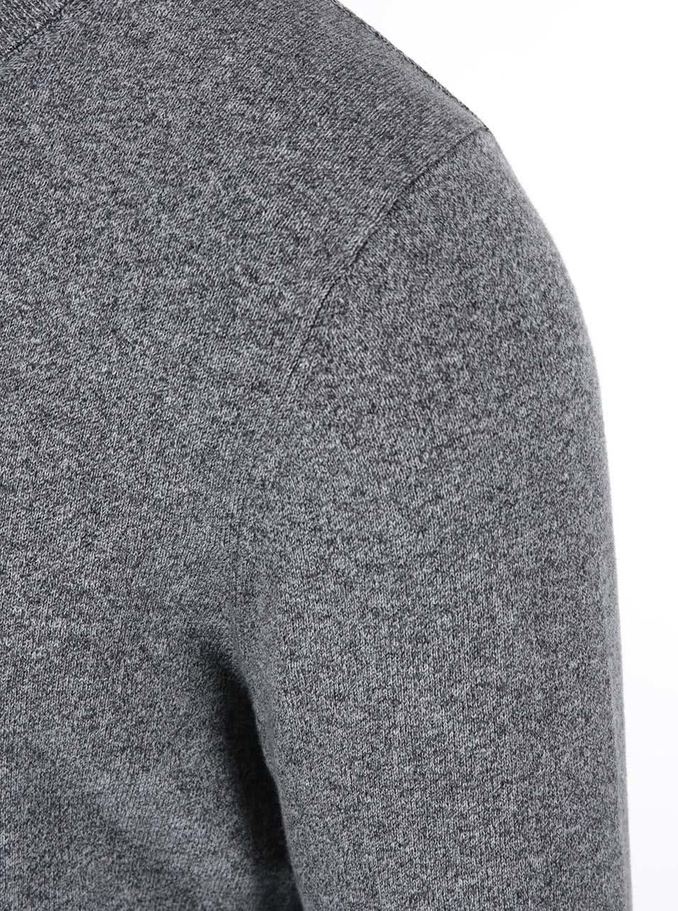 41c7093f8537 Sivý žíhaný sveter so záplatami na lakťoch Bertoni ...