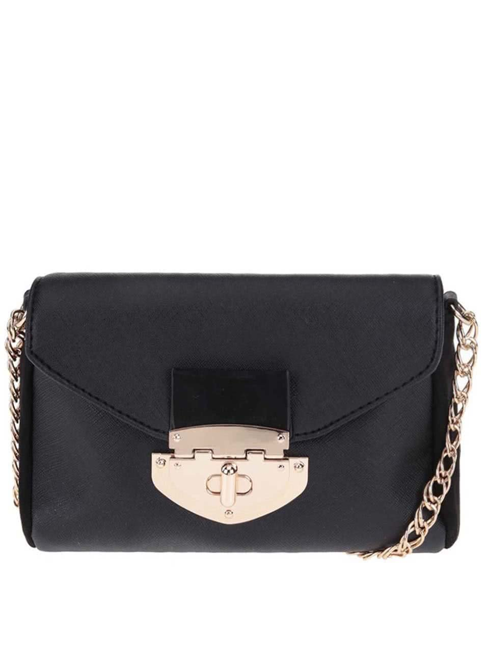 Čierna menšia crossbody kabelka Dorothy Perkins ... a0139298936