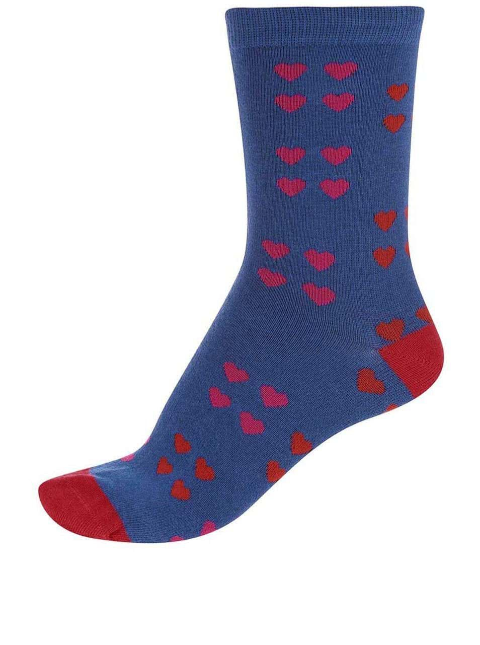 47067055aaf Modré dámske bambusové ponožky so srdiečkami Braintree Melrose ...
