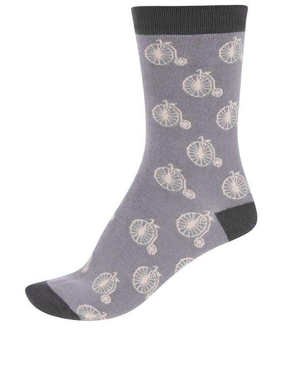 33f1d2696f2 Sivé dámske bambusové ponožky Braintree Penny Farthing ...