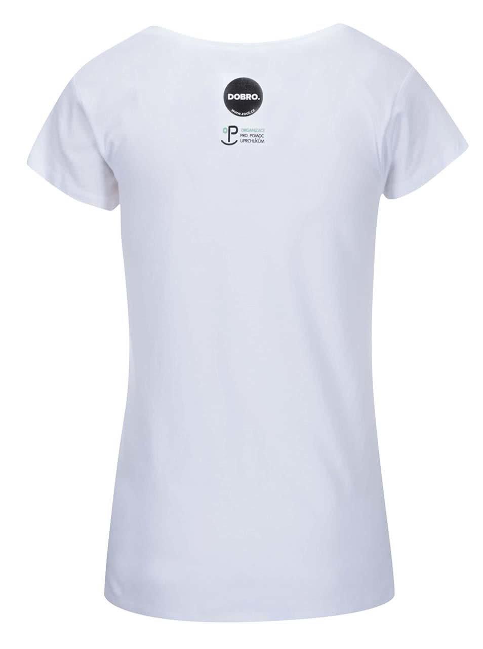 """""""Dobré"""" bílé dámské tričko pro OPU a UNHCR"""