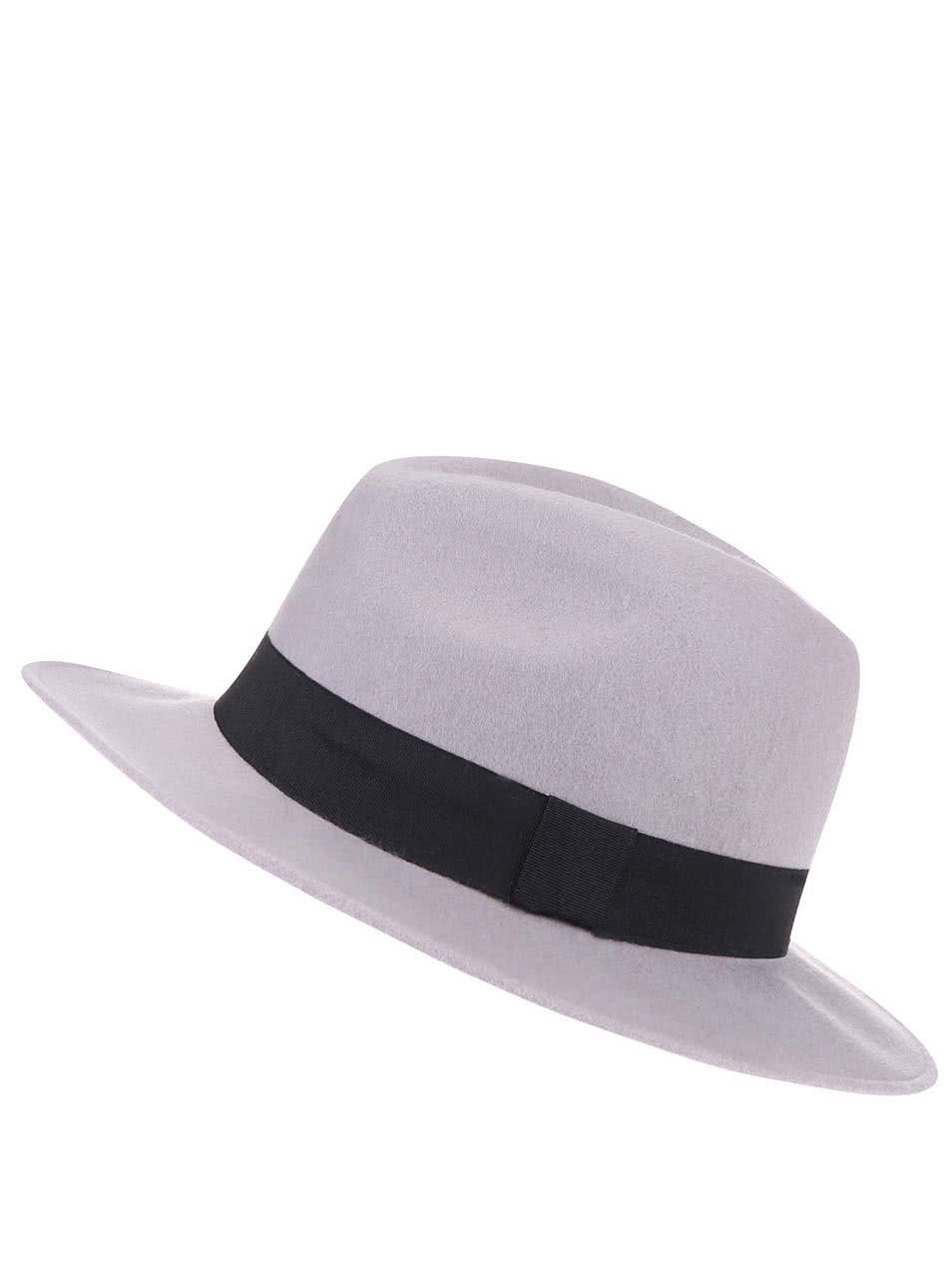Šedý klobouk Pieces Varona