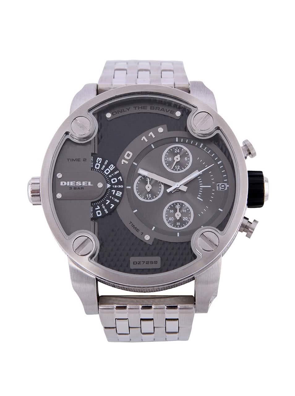 d327e66d0e2 Pánské hodinky ve stříbrné barvě s nerezovým páskem Diesel ...