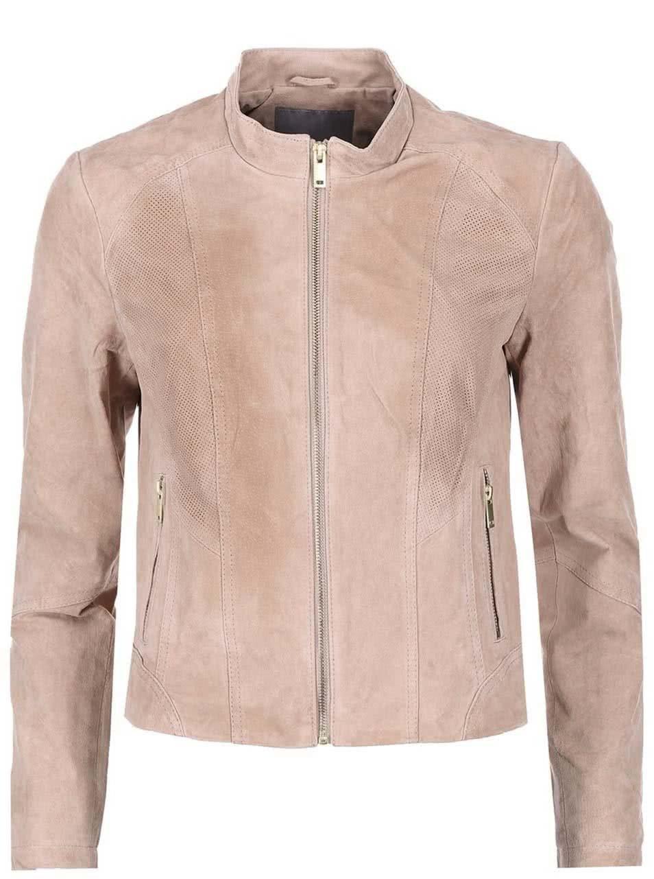 fd7ac0947 Staroružová kožená bunda VERO MODA Sharon | ZOOT.sk