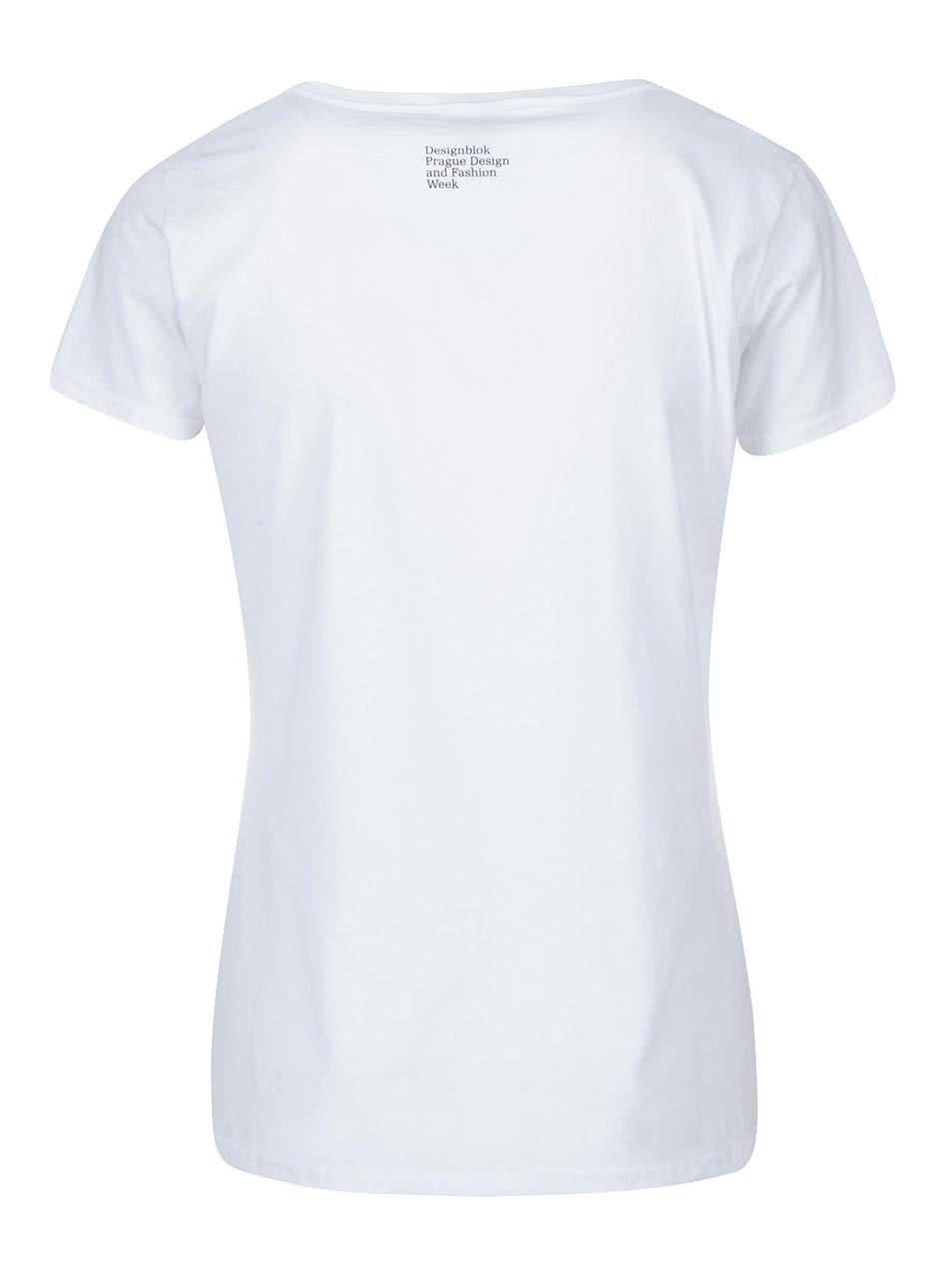 9287b28ea90b Biele dámske tričko s kozou Designblok ...