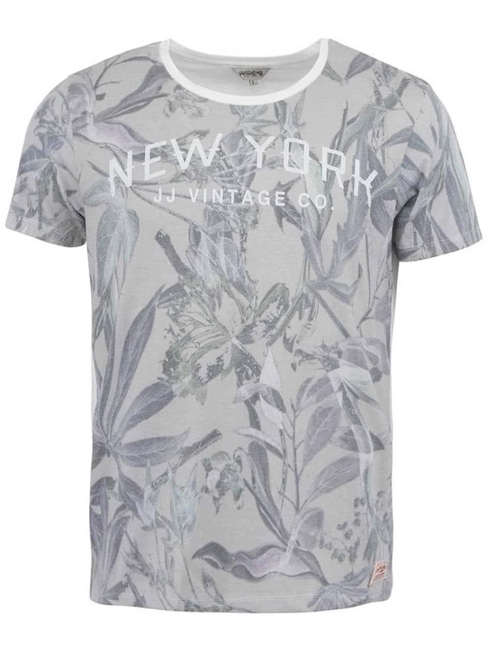 29eb77cdb825 Biele tričko s kvetinovou potlačou Jack   Jones New Sup ...