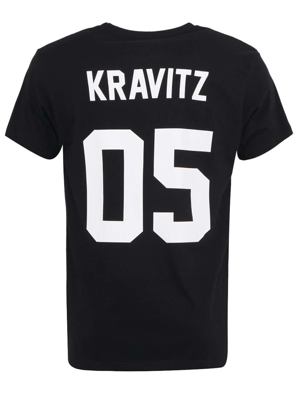 db258375a8e Pánské černé triko Eleven Paris Havitz s potiskem na zádech ...