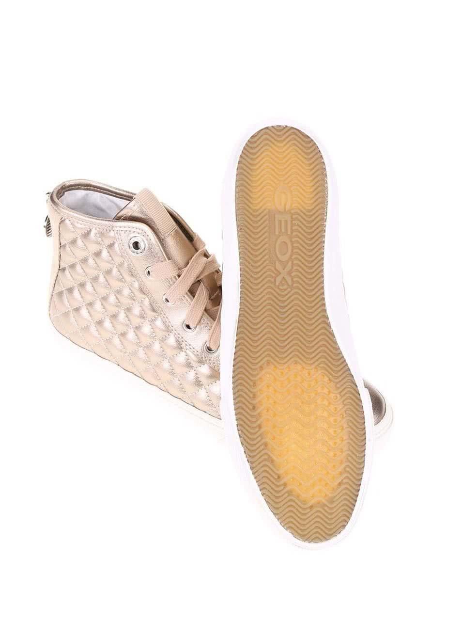 Dámské kotníkové tenisky v bronzové barvě Geox New Club ... 836d24b77f