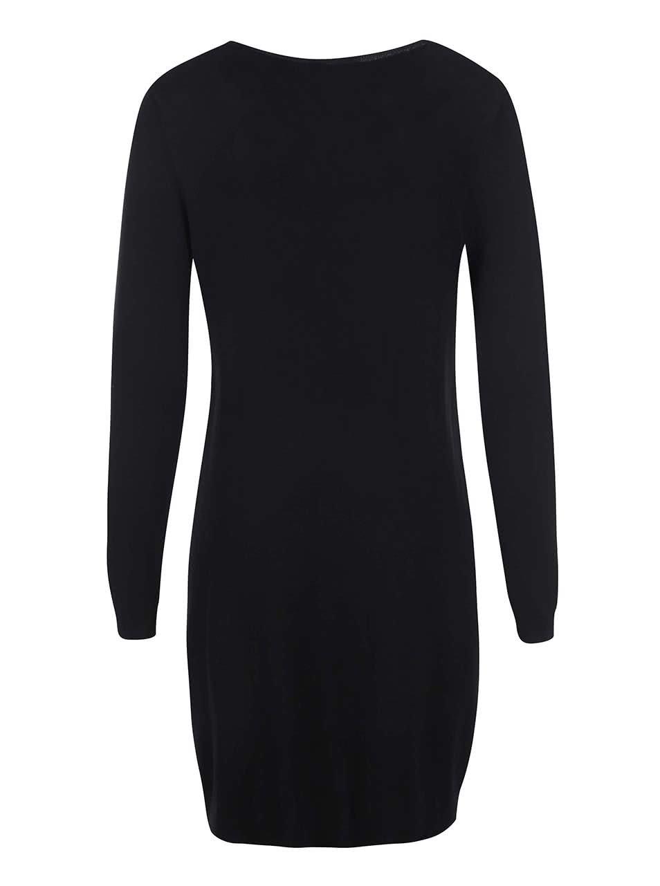 9f99b3ac5ed8 Čierne pletené šaty s vreckami Dorothy Perkins ...