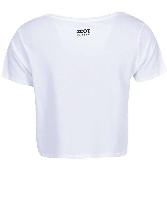 f07e56b5cfe7 Biele dámske tričko s nápisom ZOOT Originál Bad Day ...