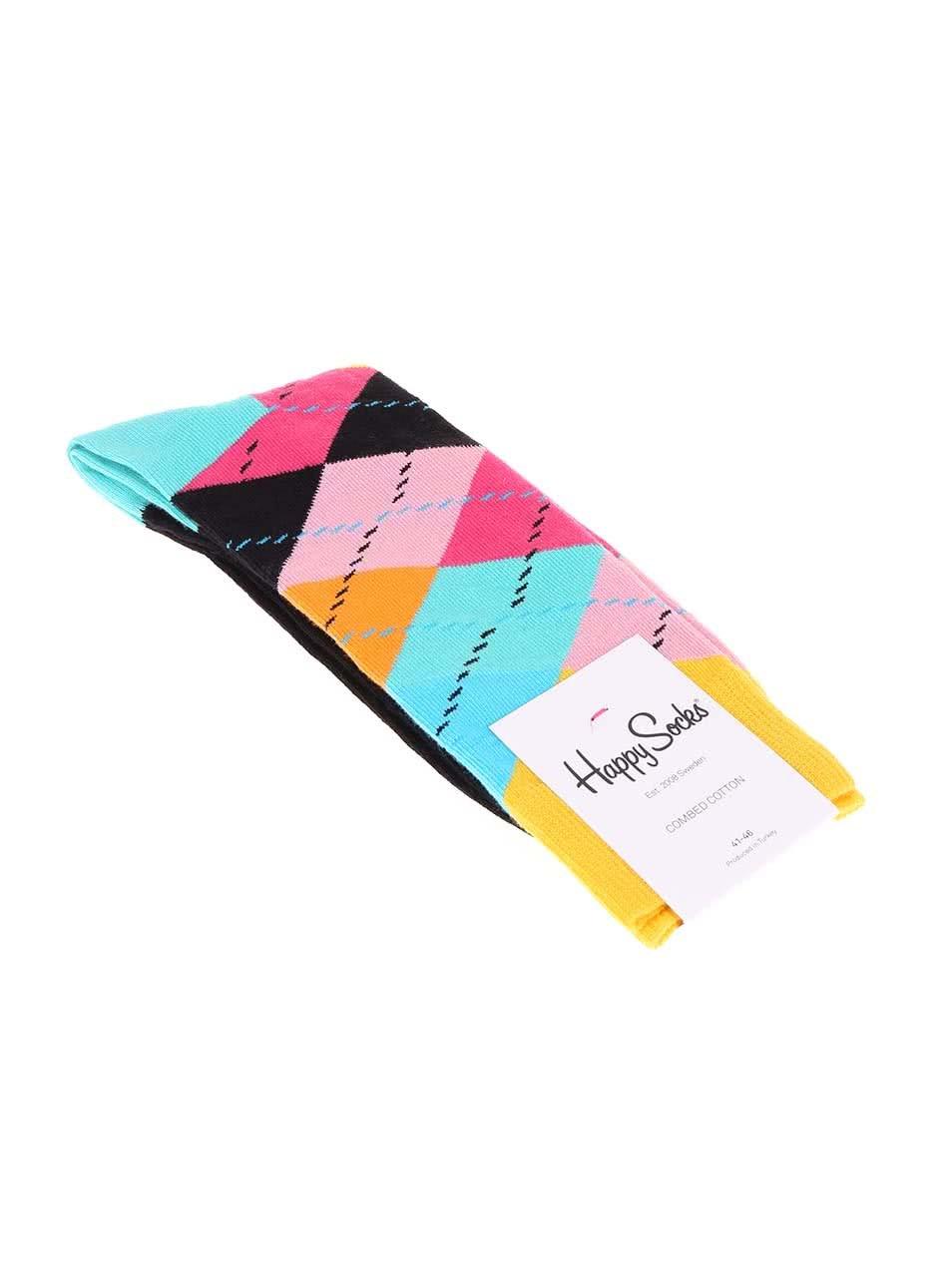 d2cf89ac363 Barevné pánské ponožky se vzorem Happy Socks Argyle ...