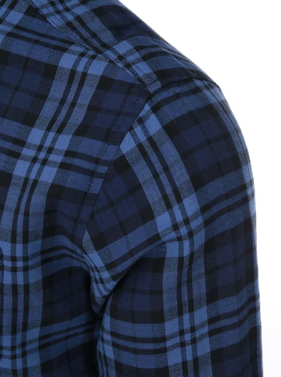 092ec894fe9d Modro-čierna kockovaná košeľa Jack   Jones Rikki ...