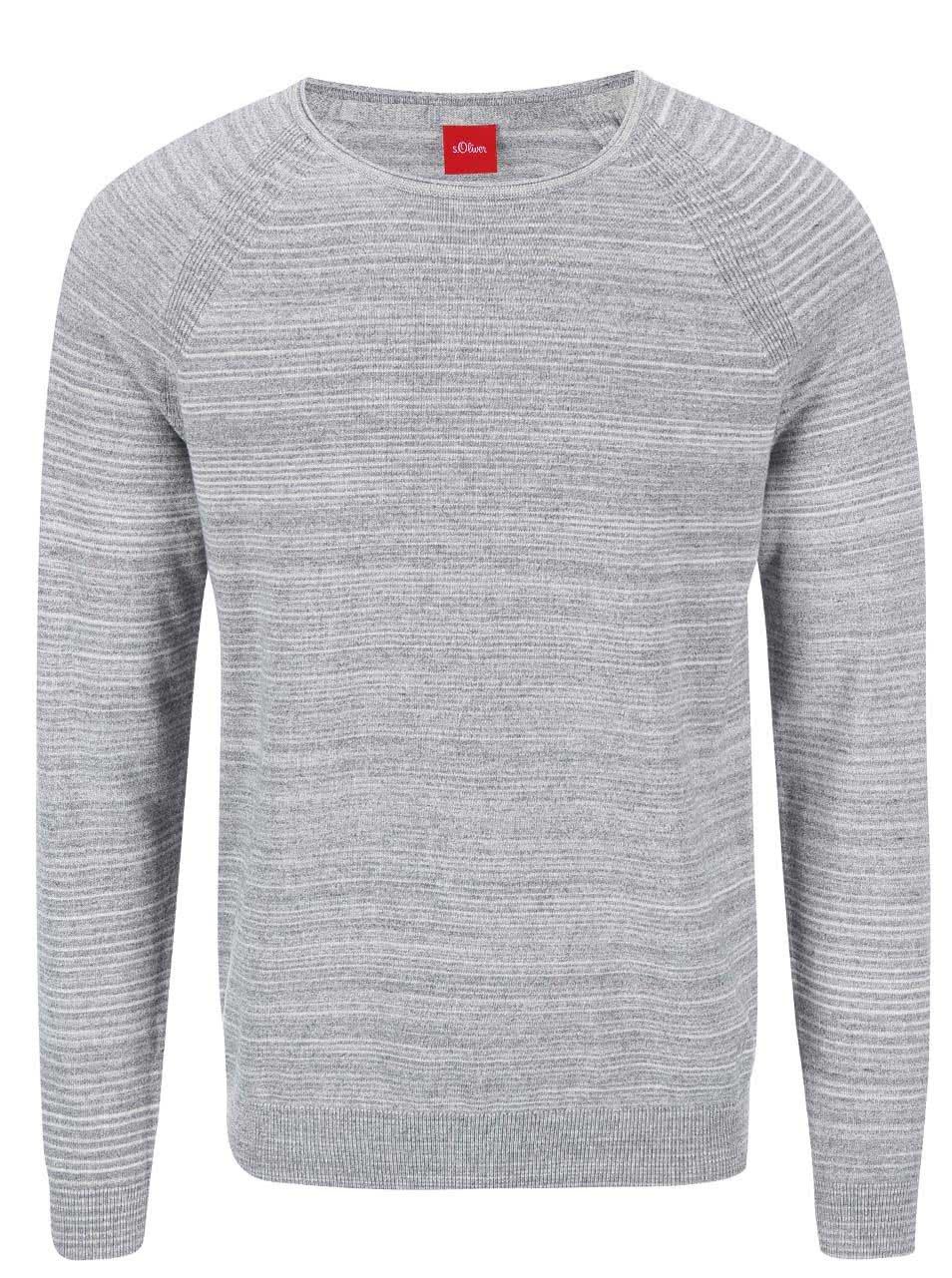 Šedý pánský tenký svetr s.Oliver  da693b52f4