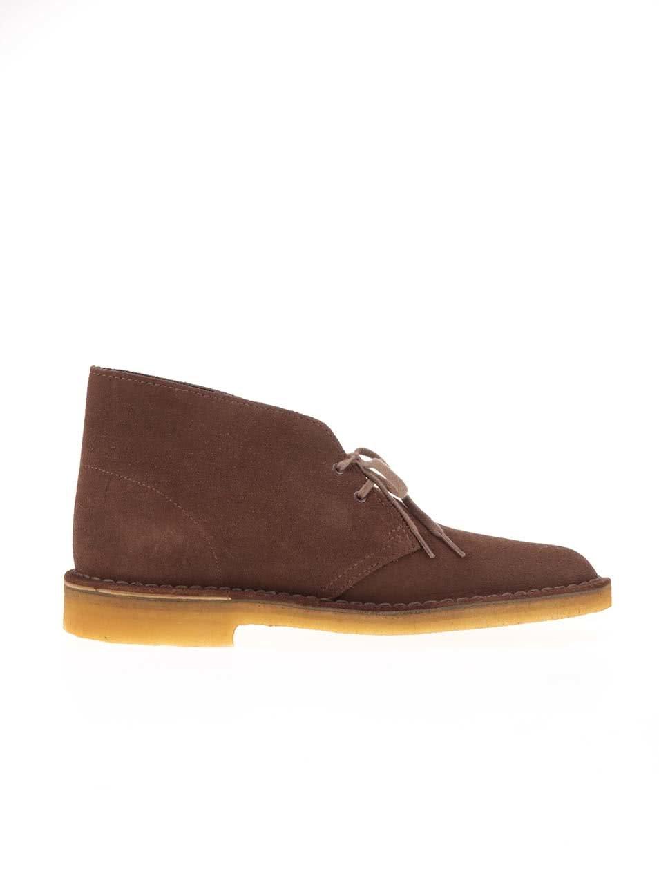 417d01cb925e Hnedé pánske kožené členkové topánky Clarks Desert Boot ...